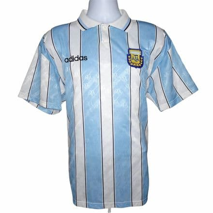 1994 Argentina Prototype Home Football Shirt Adidas Large (Excellent Condition)
